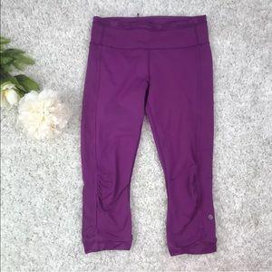 Lululemon Run For Days Crop Regal Plum Purple Sz 6
